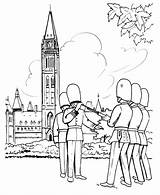 Coloring Pages Canada British Parliament Guard Sheets Redcoat Changing Ottawa Soldiers Building Honkingdonkey Holiday Leave Coloringhome sketch template