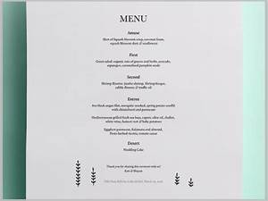 27  Elegant Dinner Menu Designs