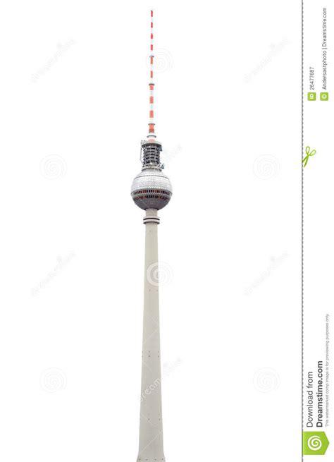 tv tower  berlin  white stock image image