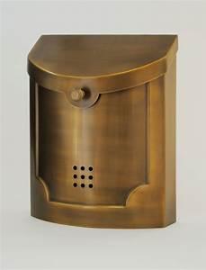 Ecco Mailboxes | E4BS Satin Brass Wall Mounted Modern ...