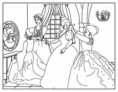 Cinderella Coloring Pages Ballroom Disney Cut Dancing