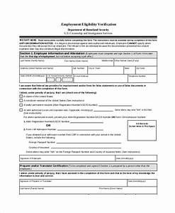 Sample employment verification form 6 documents in pdf for Documents verification job