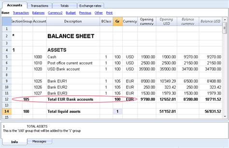 multi currency chart  accounts banana accounting