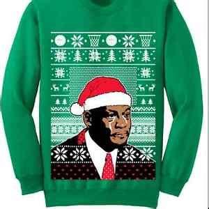 Christmas Sweater Meme - ugly christmas sweater michael jordan crying meme ugly christmas sweater trump ebay