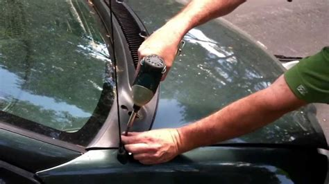 clean  clogged windshield drain youtube