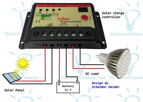 Solar Charge Controller Wiring Diagram by How To Connect Solar Panel To Battery With Mppt Solar