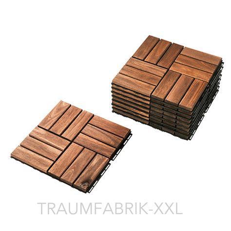 Ikea 9er Pack Holzfliese Holz Bodenrost Balkon Terrasse