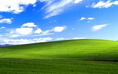 Windows Xp Grass Field Hill Sky Landscape