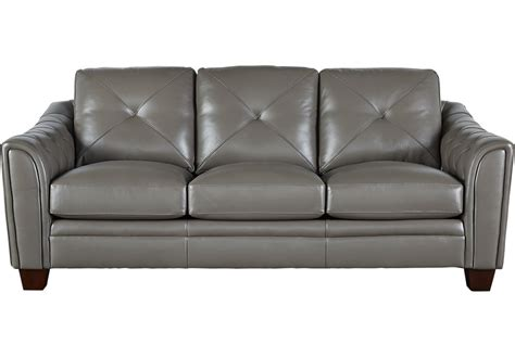 Gray Leather Loveseat by Home Marcella Gray Leather Sofa Sofas Gray