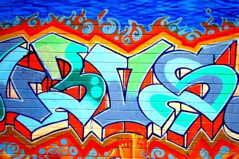 bright blue graffiti wallpaper wall mural