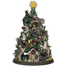 danbury mint bulldog christmas tree lighted miniature schnauzer tree by danbury