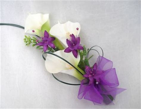 ladies cala lily corsage wedding flowers bouquets