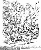 Coloring Park National Pages Parks Dover Publications Adult Arches Books Doverpublications Welcome Adults Canyonlands Landscape Landscapes Utah Yosemite Sheets Sequoia sketch template