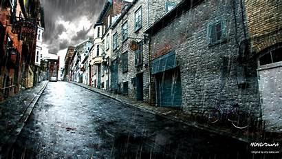 Street Wallpapers Rainy Desktop Rain Backgrounds Dark