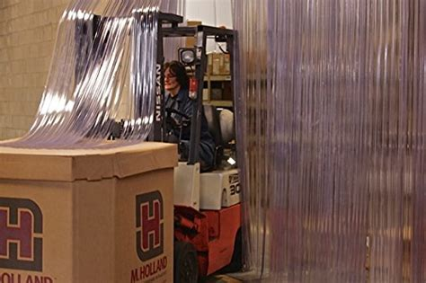 walk in cooler curtains 150 roll 8 quot wide ribbed pvc plastic curtain for