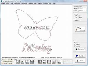 Dxf laser cutting fonts download for Cnc lettering software