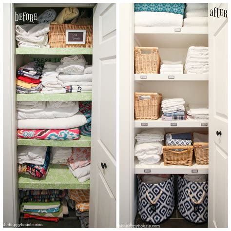 Transformation Organize Your by How To Completely Organize Your Linen Closet The Happy