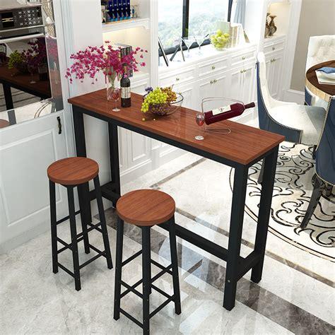 kitchen bar table against wall modern minimalist small bar against the wall bar table