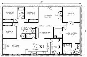 Home Floor Plans  Mobile Home Floor Plans 16 X 80