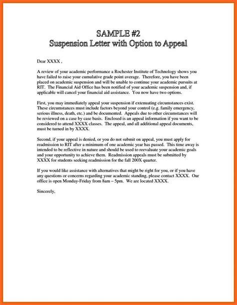 appeal letter  college suspension sampletemplatess