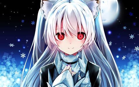 Animal Ears Catgirl Gothic Long Hair Moon Night Nora Cat