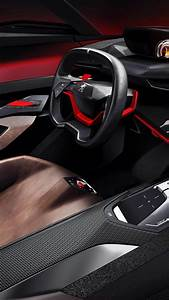 Wallpaper Peugeot Quartz, concept, interior, supercar