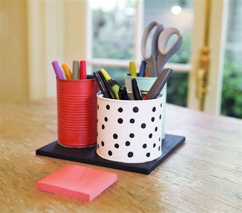 wood table diy desk organizer ideas to tidy your study room