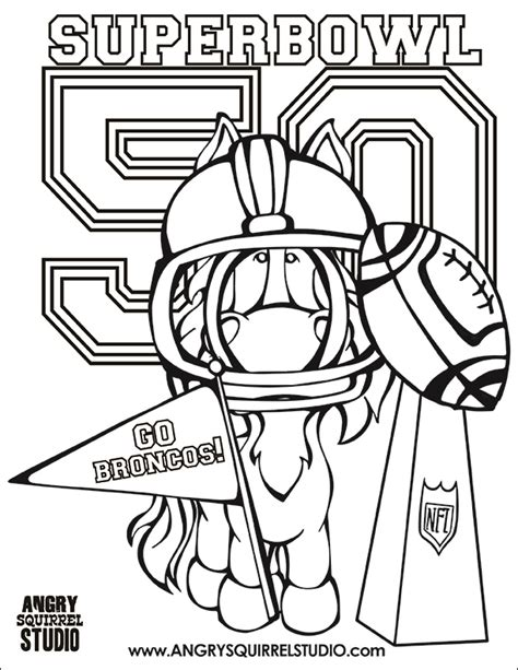 broncos coloring pages free coloring pages superbowl 50 angry squirrel studio