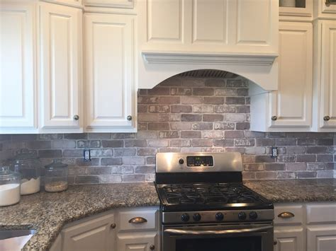 how to do kitchen backsplash brick backsplash in the kitchen easy diy install