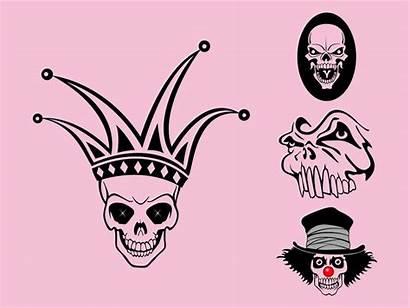 Vector Skulls Weird Graphics Skull Scary Dead
