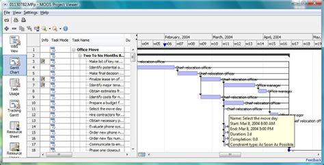 moos project viewer  viewer  microsoft project