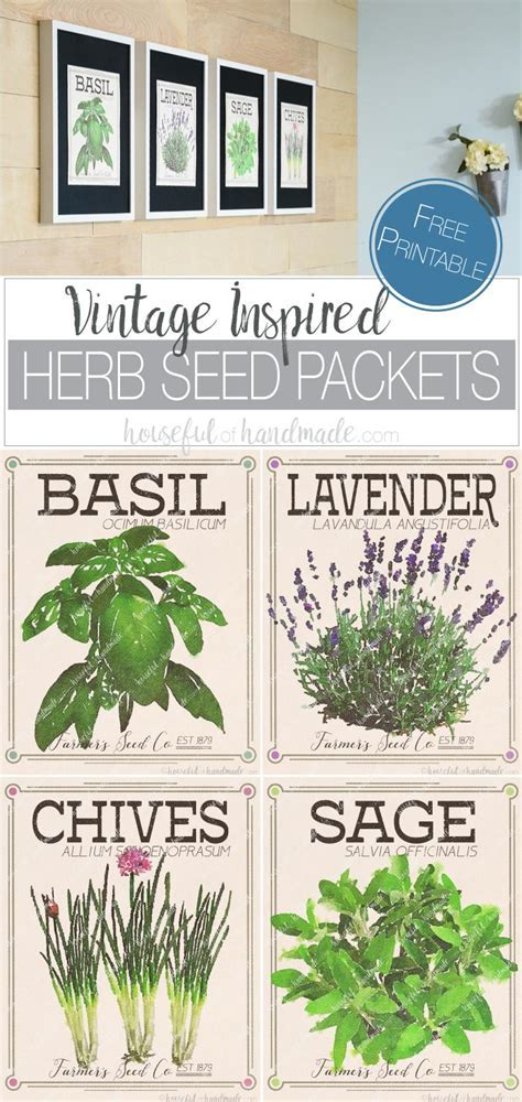 Free Vintage Inspired Herb Prints   Houseful of Handmade