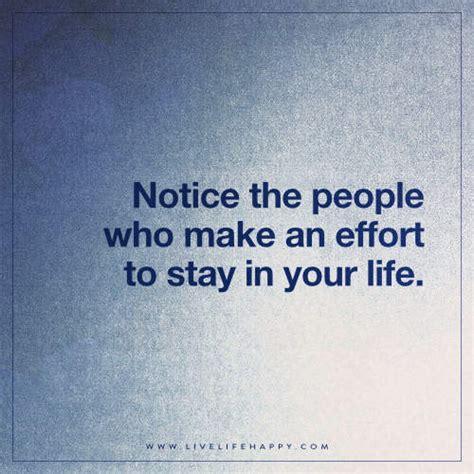 notice  people    effort  life happy