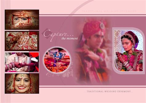 indian wedding album cover design  psd templates