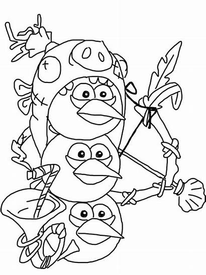 Coloring Birds Angry Pages Epic Thanksgiving Looney