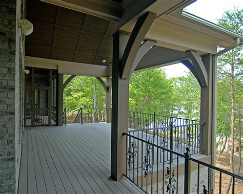 french country traditional porch charlotte  pippin home designs