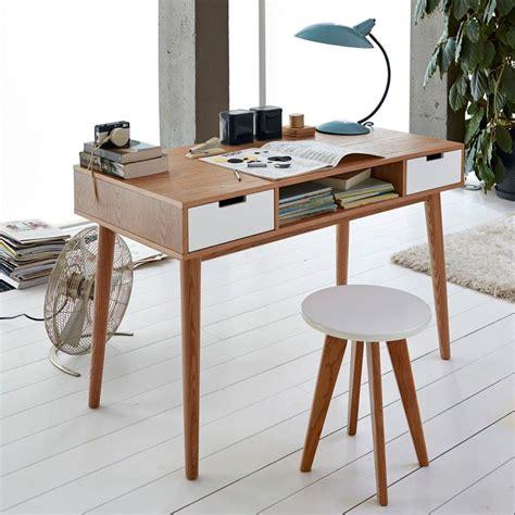 le bureau vintage bureau vintage jimi avec 2 tiroirs et des pieds ronds
