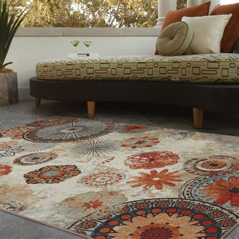 Walmart Patio Area Rugs by Mohawk Home Medallion Indoor Outdoor Rug