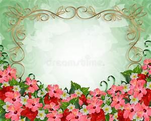 flores tropicais do convite do casamento ilustração stock