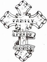 Cross Drawings Tattoo Drawing Clipart Tattoos Crosses Thelob Clip Deviantart Religious Pg Gr sketch template