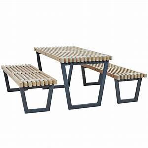 Table Et Banc En Bois : banc en bois flott ides ~ Melissatoandfro.com Idées de Décoration
