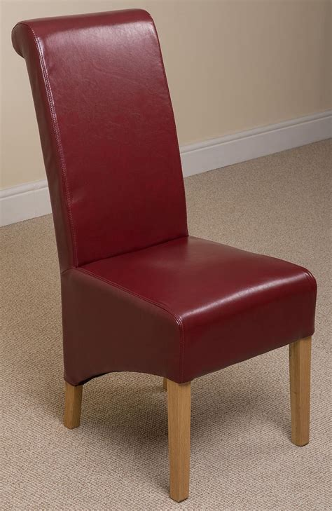 montana scroll  red leather dining room chairs kitchen