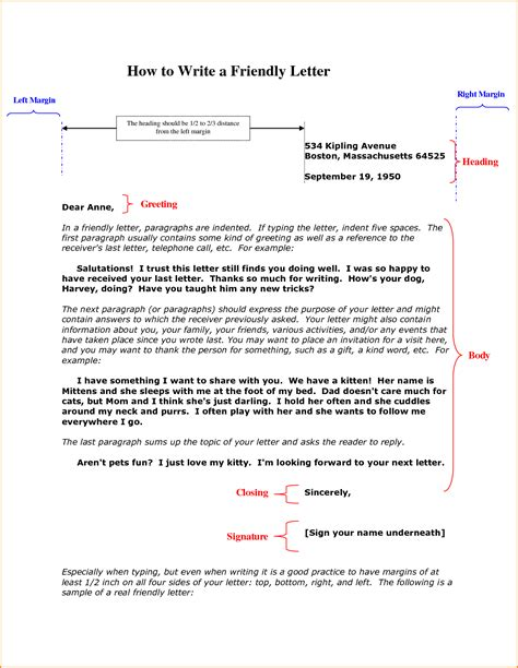 friendly letter writing format 9 friendly letters exle invoice template