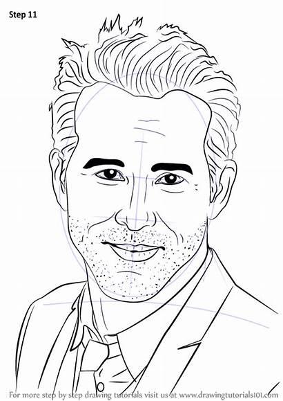 Ryan Draw Reynolds Step Drawing Celebrities Tutorials