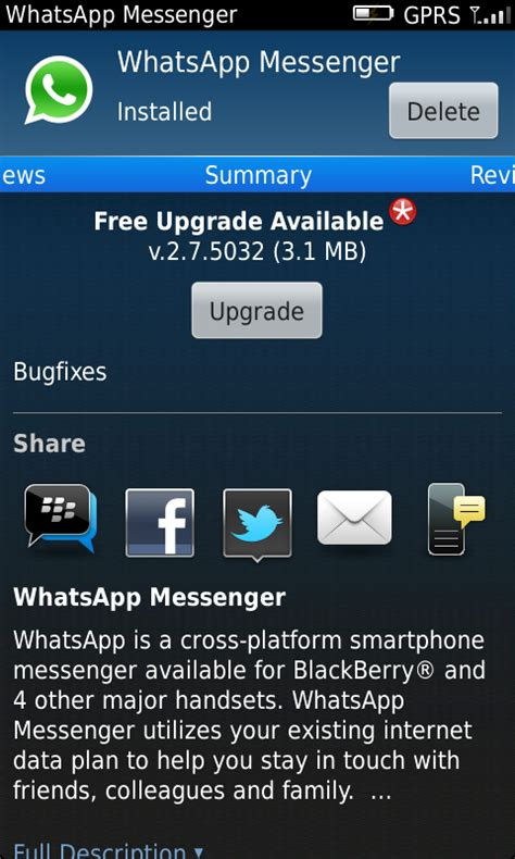 whatsapp messenger for blackberry 8520 antfreeget
