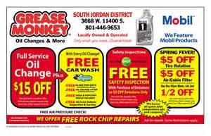 Grease Monkey South Jordan Coupons