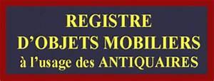 Registre De Police : le registre de police registre d 39 objets mobiliers pour antiquaire brocanteur ~ Medecine-chirurgie-esthetiques.com Avis de Voitures