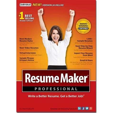 Resume Maker Professional by Resumemaker Professional Deluxe 20 Windows Ind945800f002