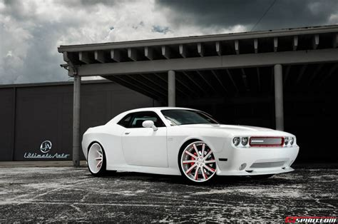matte white matte white dodge challenger widebody by ultimate auto