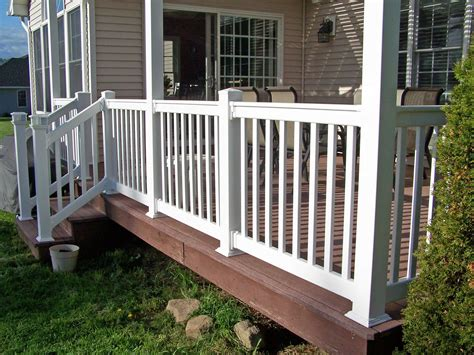 vinyl railing install clinton ny poly enterprises